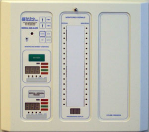 combination medical alarm panels and systems